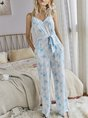 Ombre/tie-Dye Spaghetti-Strap Gradient One-Pieces Jumpsuit