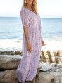Pruple Pink Swing Holiday Casual Maxi Dress