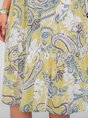 Yellow Holiday Cotton Midi Dress