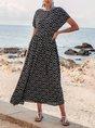 Black  Swing Daytime Casual Maxi Dress