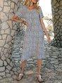 V Neck Date Boho Paneled Midi Dress