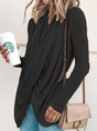 Cowl Neck Asymmetrical Solid Casual Top