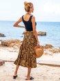 Black Tribal A-Line Vintage Skirts