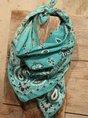 Western denim printed casual scarf