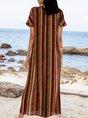 Orange Stripes Boho Dresses