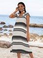 White Casual Shift Striped Dresses