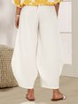 White Simple Basic Solid Shift Pant