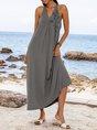 Dark Grey Sexy Swing Animal Dresses