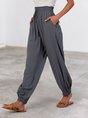Gray Shift Casual Pockets Pant