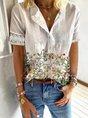 Short Sleeve Cotton-Blend Blouse