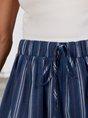 Blue Shift Stripes  Casual Pant