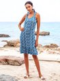 Blue Mermaid Beach Midi Dress