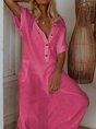 Short Sleeve Casual Maxi Dress
