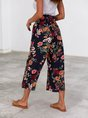Printed Floral Shift Holiday  With Belt Pant