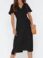 Short Sleeve Printed Casual Maxi Dress