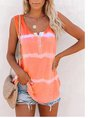 Naked Pink Casual Round Neck Color-Block Top