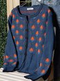 Plus size Casual Cotton Knitted Outerwear