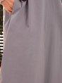 Gray Crew Neck Pockets Casual Short Sleeve Mini Dress