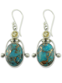 New Vintage Silver Turquoise Earrings