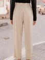 Apricot Casual Solid Shift Pant