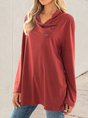 Red Solid Tc Long Sleeve Top