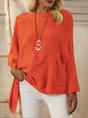 Orange Tc Casual Cape Sweater