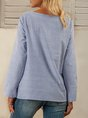 Blue Paneled A-Line Casual Top