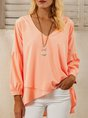 Pink A-Line Balloon Sleeve Top