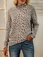 Leopard Turtleneck Tc Long Sleeve Leopard Top