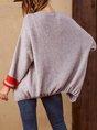 Grey casual long sleeve sweater coat