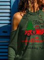 This Is My Hallmark Christmas Movie Watching Shirt Printed Strapless Hole Printed Tops