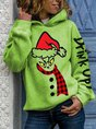 Grinch Face Drink Up Christmas Hoodie