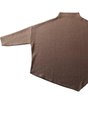 Jersey Stand Collar Plain Holiday Top