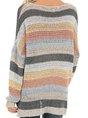 Color-Block Stripes Casual Sweater