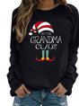 Christmas Long Sleeve Letter Vintage Top