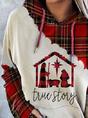 True Story Print Plaid Christmas Hoodie