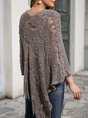 Casual A-Line Long Sleeve Sweater