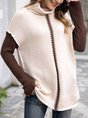 Khaki Long Sleeve Casual Sweater
