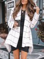 Casual Shift Checkered/plaid Long Sleeve Outerwear