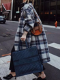 Vintage Long Sleeve Checkered/plaid Outerwear
