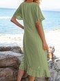 Cotton-Blend Miid Dress
