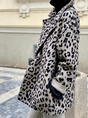 Holiday Lapel Leopard Outerwear