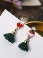 Christmas Exquisite Tassel Earrings