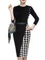 Sheath Daily Checkered/plaid Mini Dress