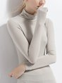 Long Sleeve Simple & Basic Turtleneck Top