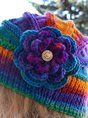 Knitted Multicolor Floral  hat