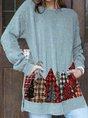 Long Sleeve Christmas Snowman Sweatshirt