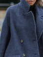 Vintage Plain Long Sleeve Plus Size Casual Outwear