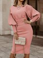 Formal Solid Midi Dress