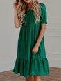 Daily Half Sleeve Boho Midi Dress